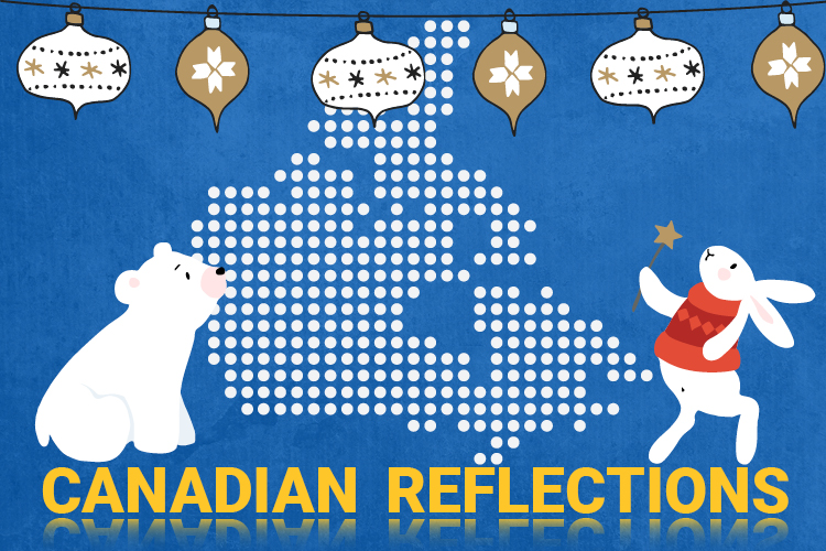 Illustration showing a visual metaphor to introduce the topic of Canadian Reflections.