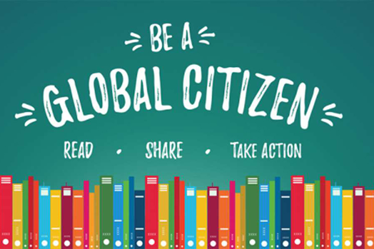 Illustration of a Global Citizen to support the Manitoba Council for International Cooperation.