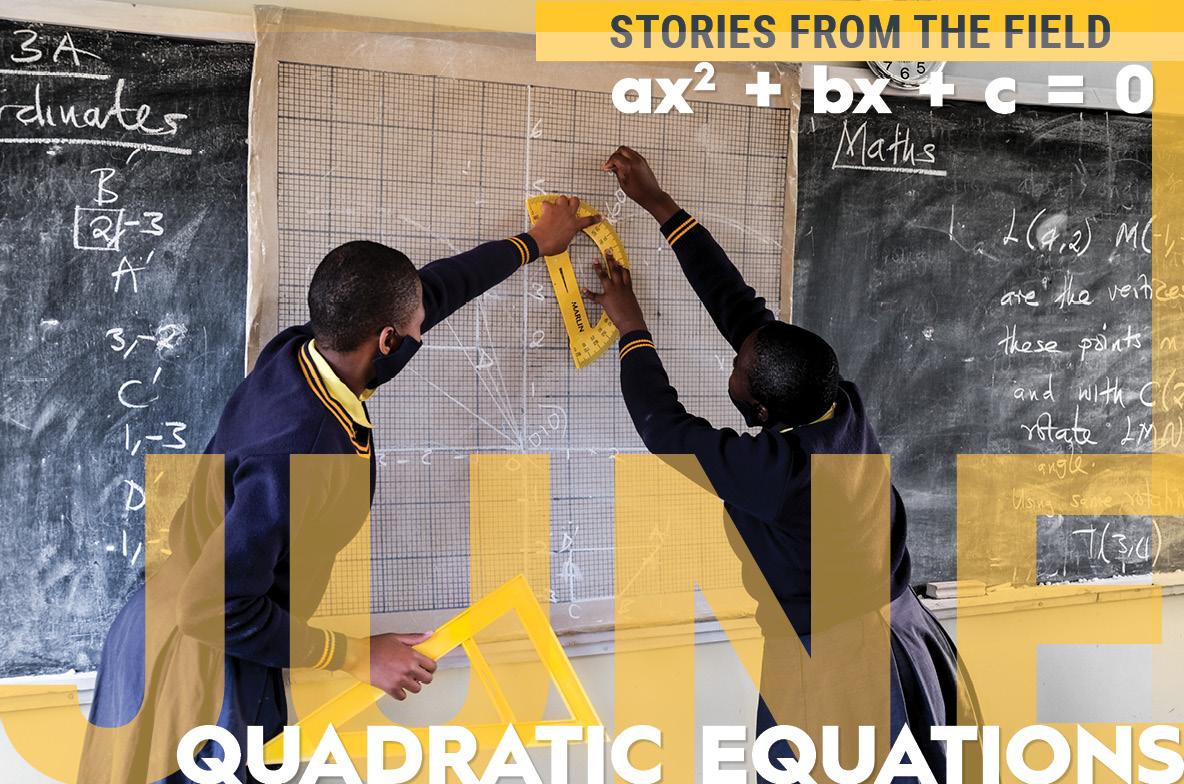 Kuwala students solving quadratic equation on chaulkboard
